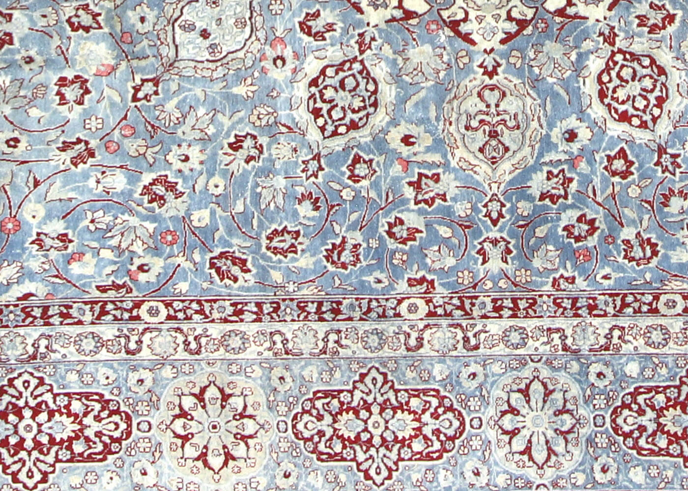 "Semi Antique Persian Tabriz Carpet - 12'7"" x 21'0"""