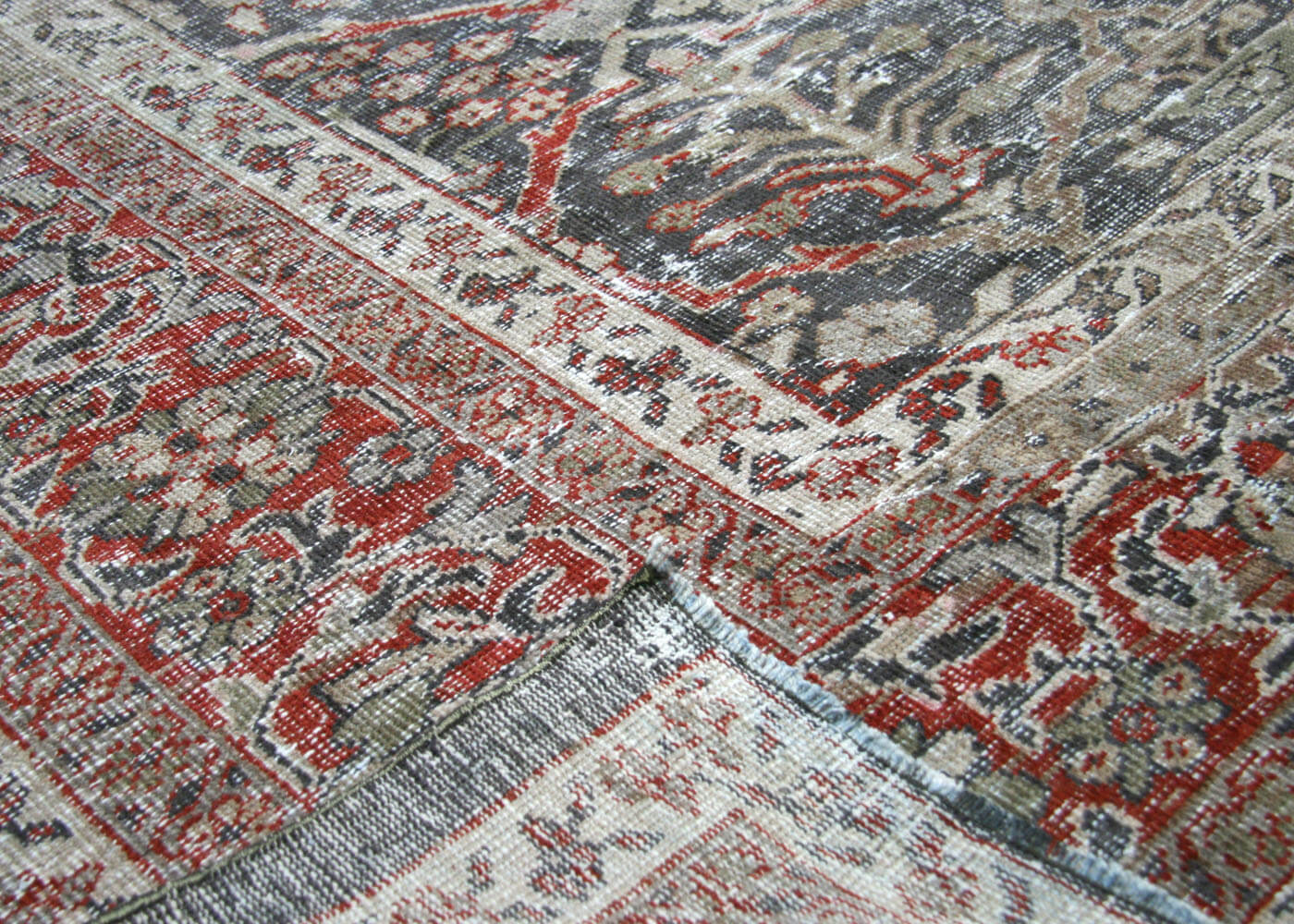 "Semi Antique Persian Mahal Carpet - 12'5"" x 16'6"""