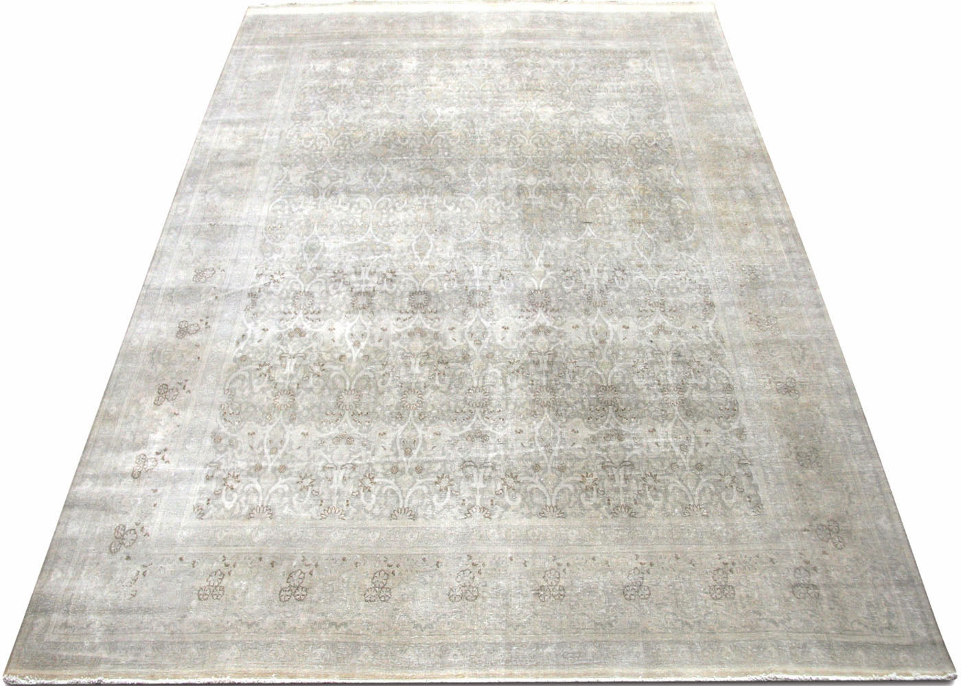 "Semi Antique Persian Tabriz Carpet - 9'11"" x 13'1"""