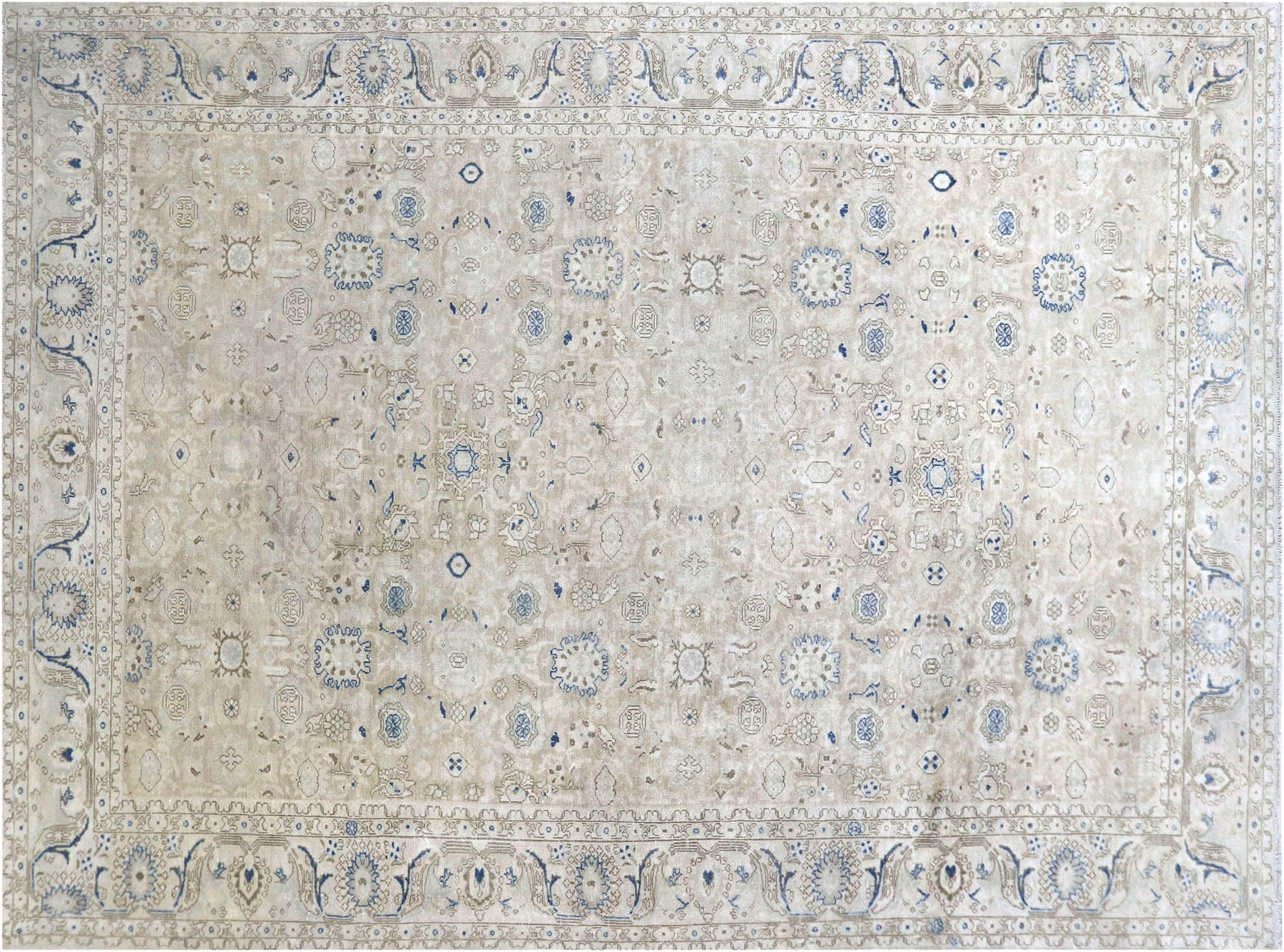 "Semi Antique Persian Melayer Carpet - 10'5"" x 14'0"""