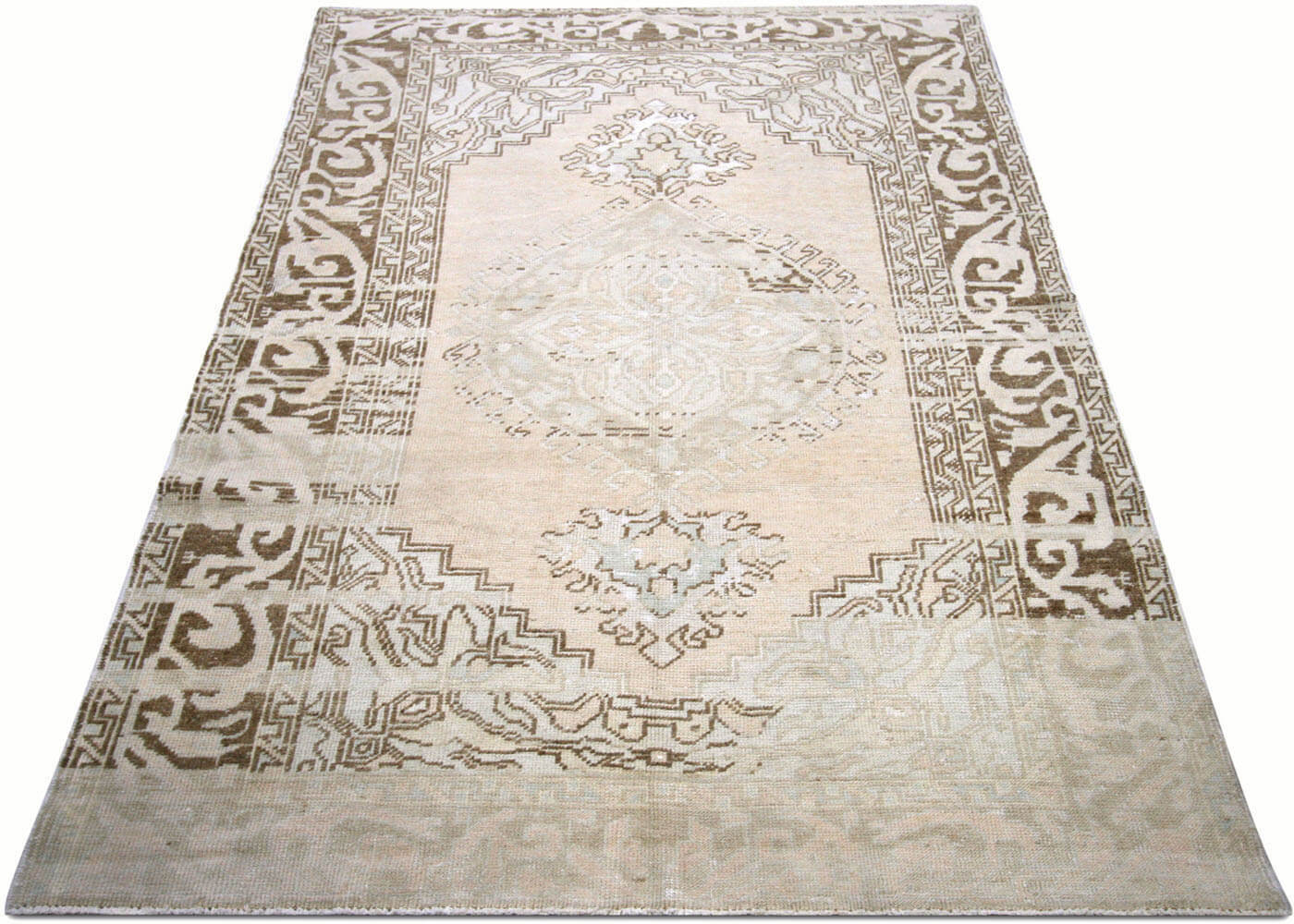 "Semi Antique Persian Tabriz Rug - 5'1"" x 7'10"""