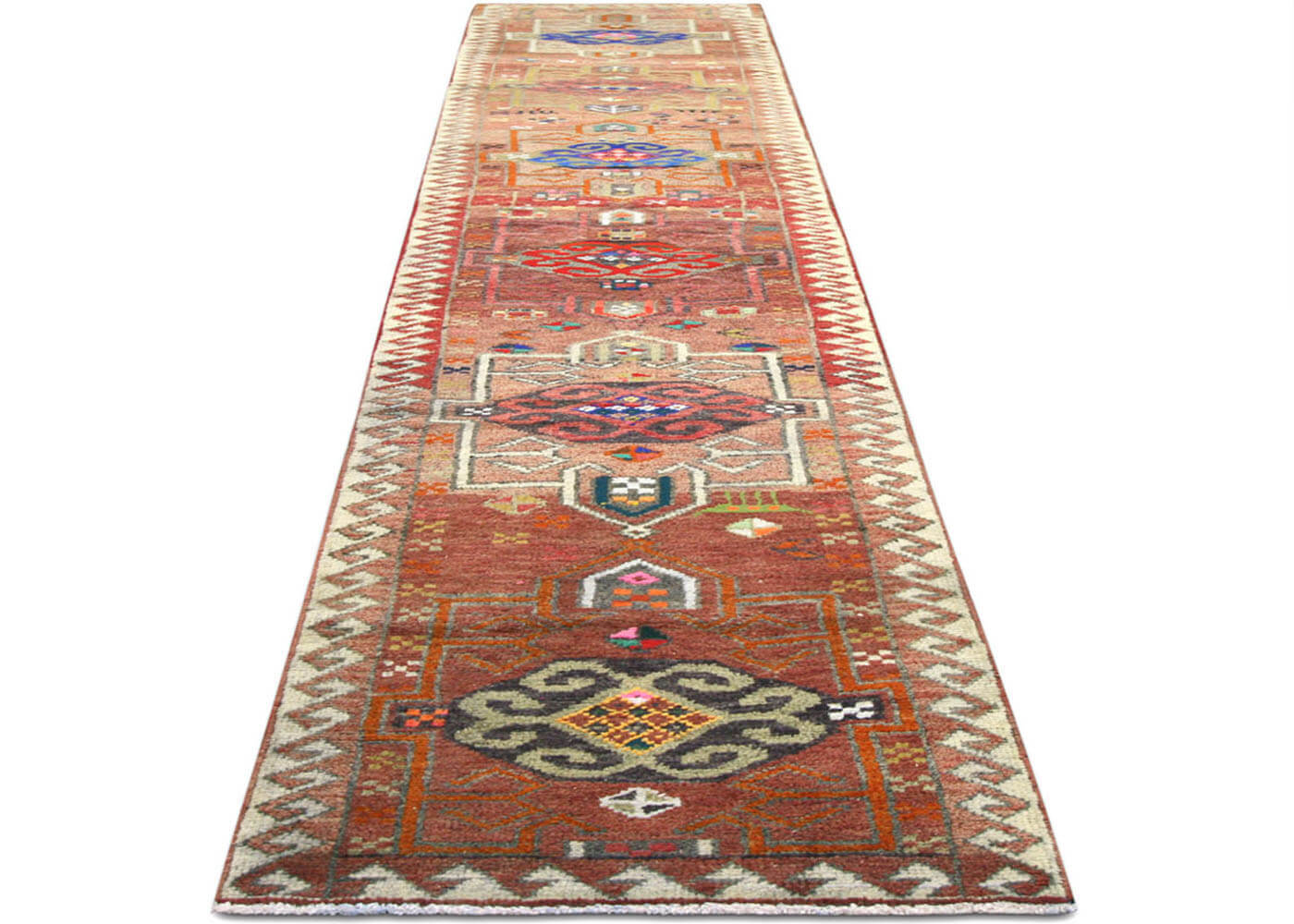 "Vintage Turkish Oushak Runner - 2'8"" x 13'7"""