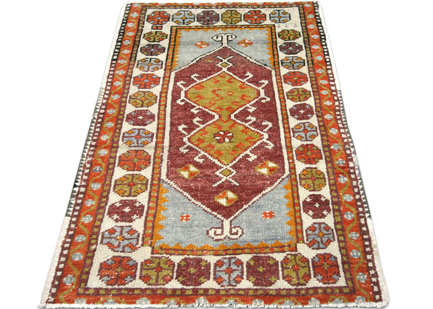 "Vintage Turkish Oushak Rug - 2'5"" x 3'9"""