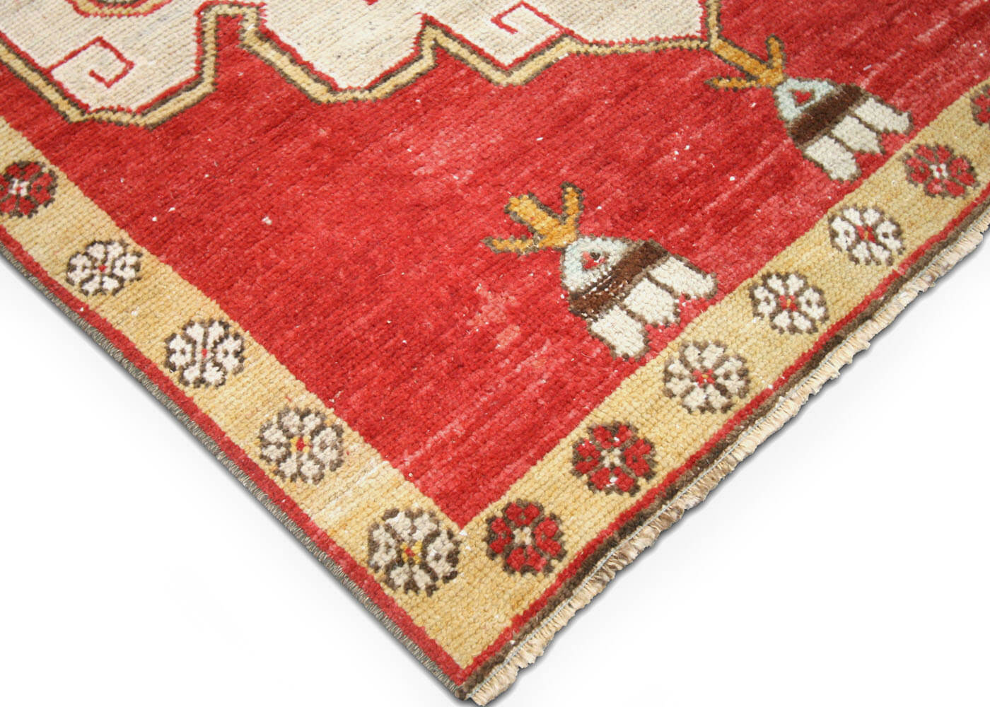 "Vintage Turkish Oushak Runner - 3'2"" x 10'2"""
