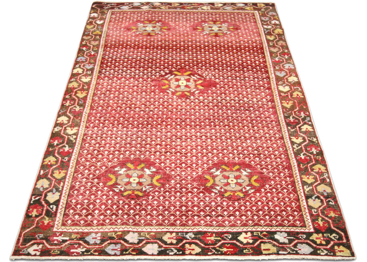 "Vintage Turkish Oushak Rug - 3'11"" x 7'4"""