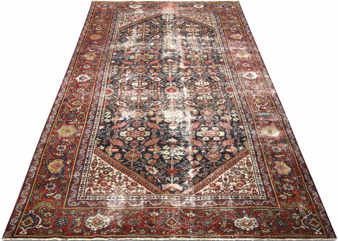 "Semi Antique Persian Mahal Carpet - 6'4"" x 10'7"""