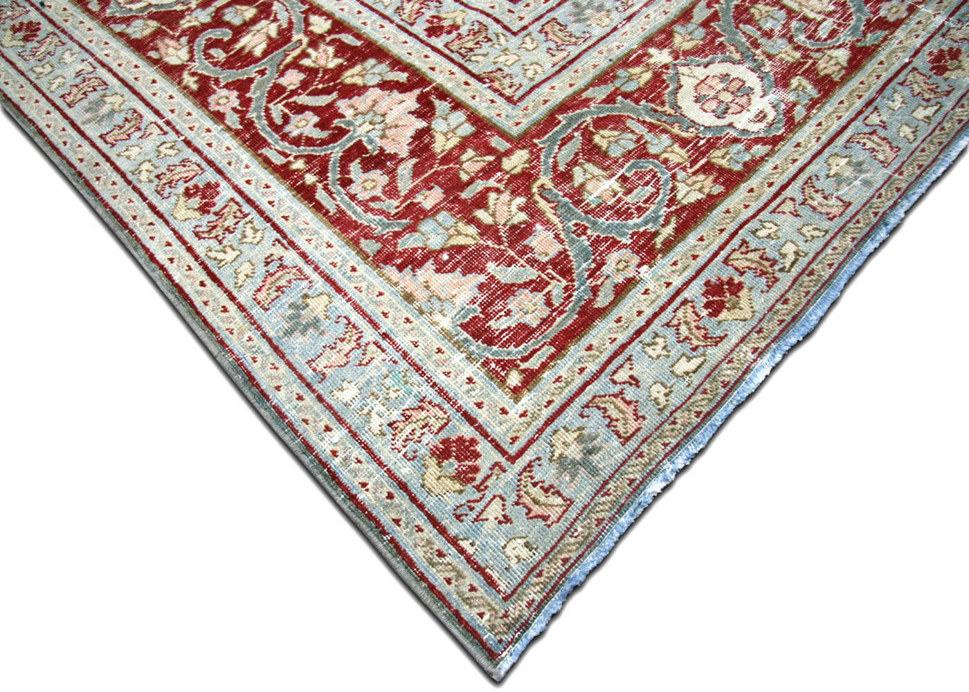 Semi Antique Persian Tabriz Carpet - 10' x 14'9""