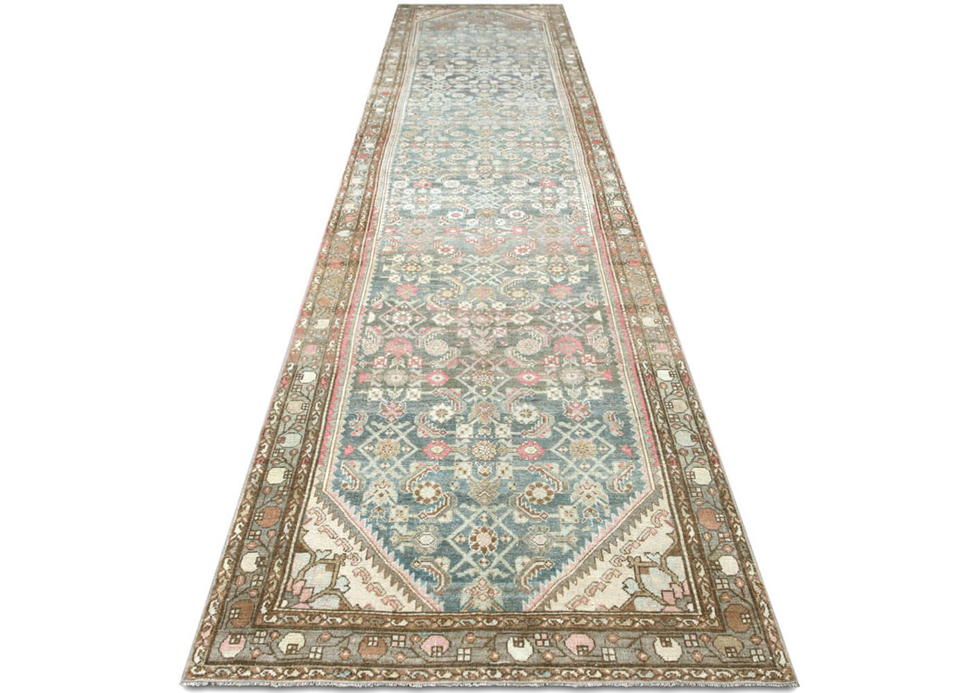 "Semi Antique Persian Melayer Runner - 3'5"" x 15'10"""
