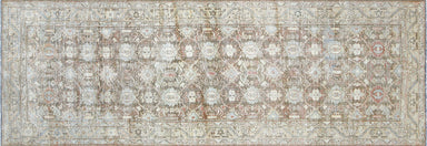 "Vintage Persian Melayer Runner - 3'7"" x 10'5"""