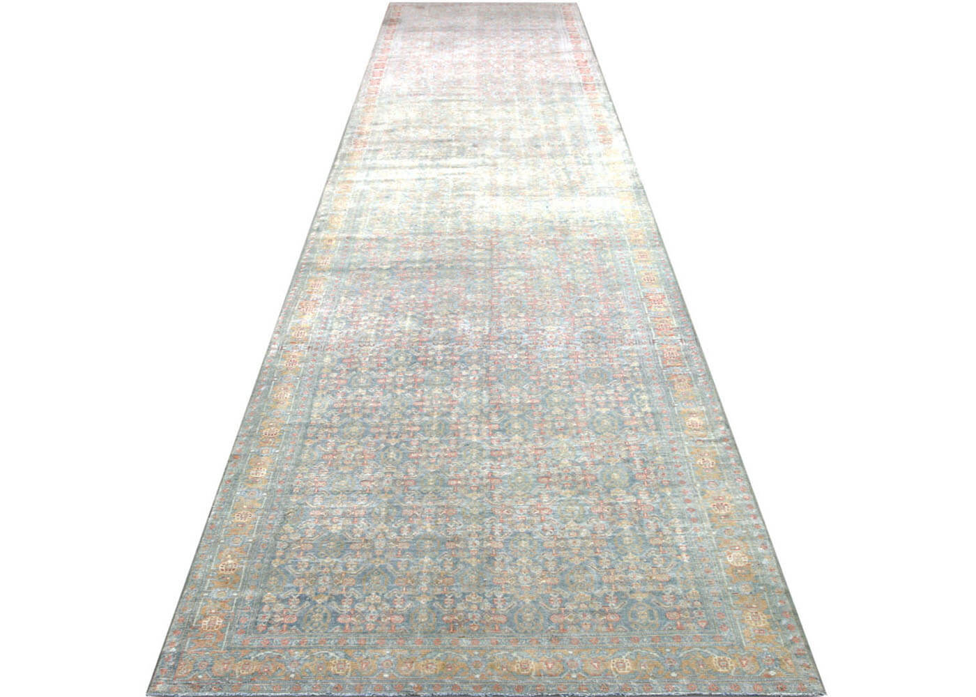 "Semi Antique Persian Senne Runner - 3'5"" x 19'7"""