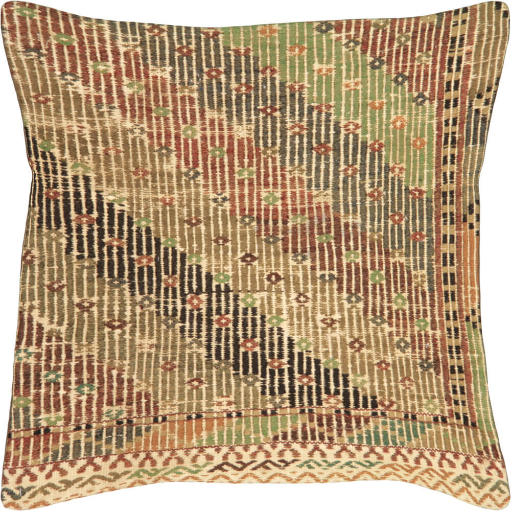 "Vintage Turkish Jijim Pillow - 24"" x 24"""