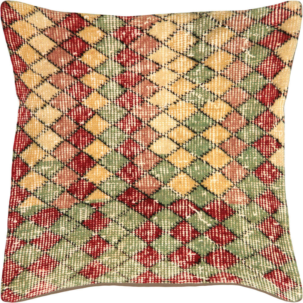 "Vintage Turkish Mid-Century Modern Pillow - 20"" x 20"""