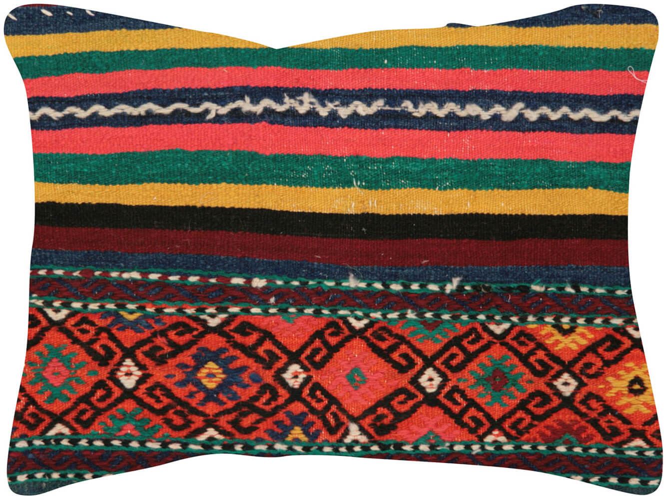 "Vintage Turkish Jijim Pillow - 17"" x 24"""