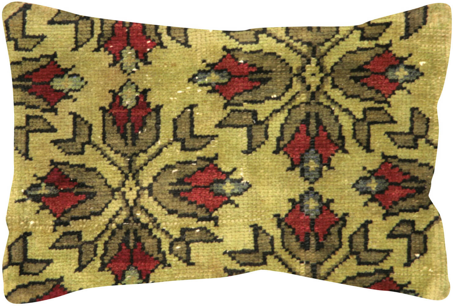 "Vintage Turkish Oushak Pillow - 15"" x 23"""