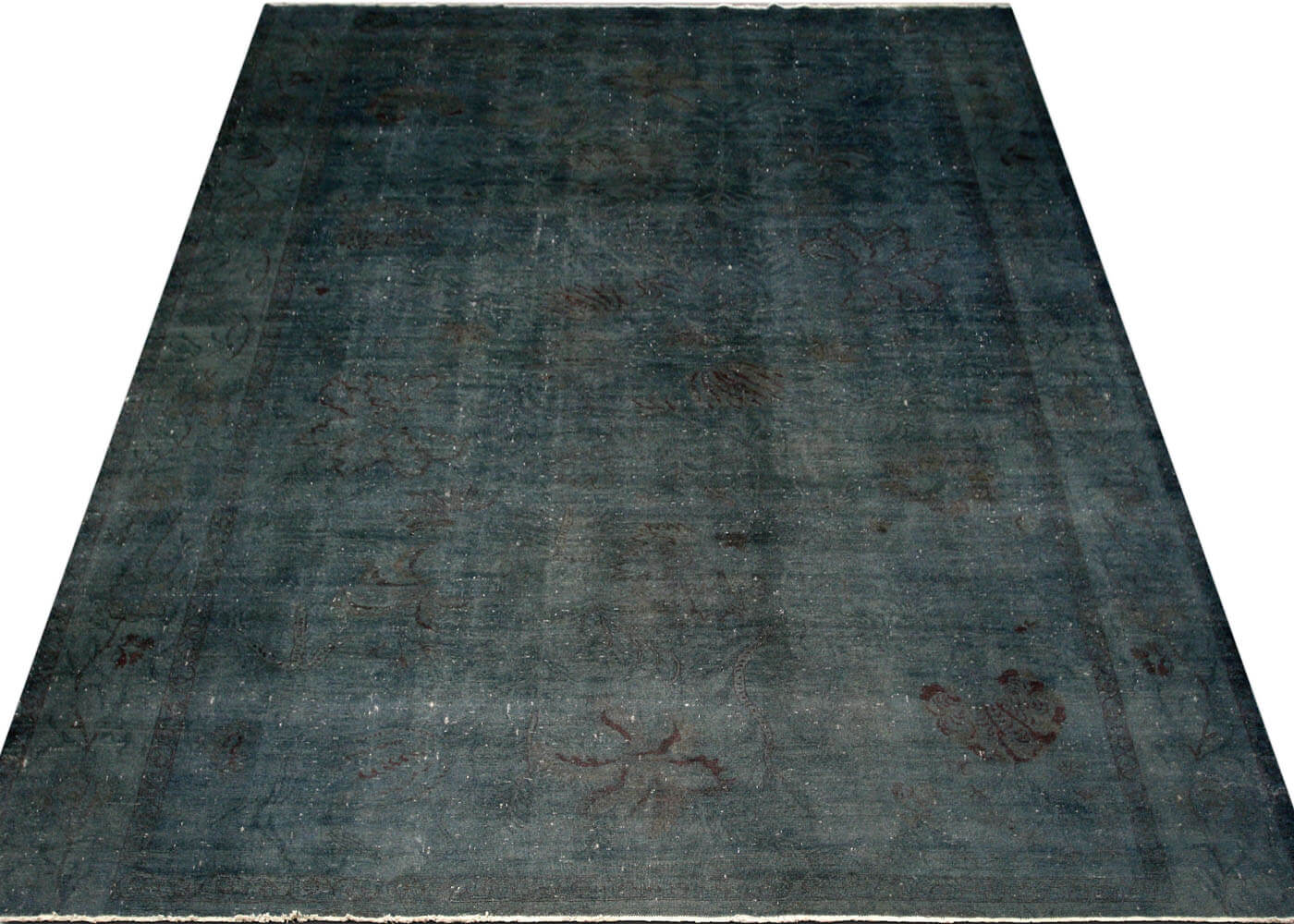"Vintage Egyptian OverDyed Carpet - 12'9"" x 15'2"""