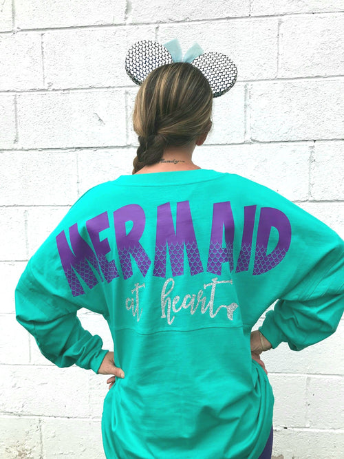 Mermaid At Heart Monogrammed Spirit Jersey