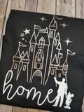 Disney Castle Home with Walt and Mickey - Long Sleeve or Short Sleeve - Rose Gold