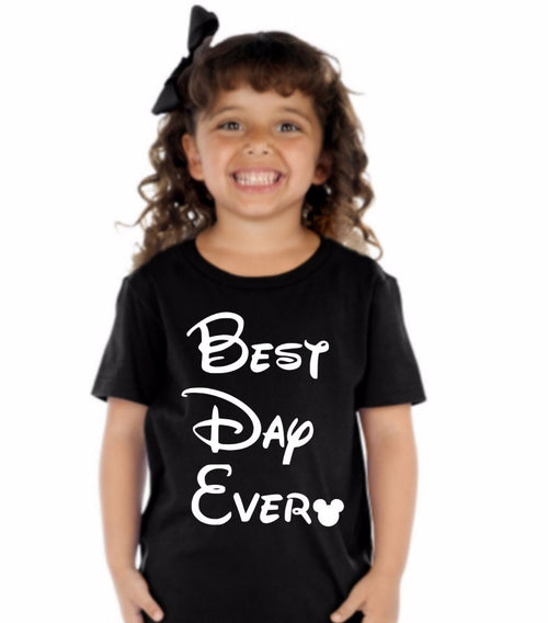 Best Day Ever Kids Crew Neck TShirt