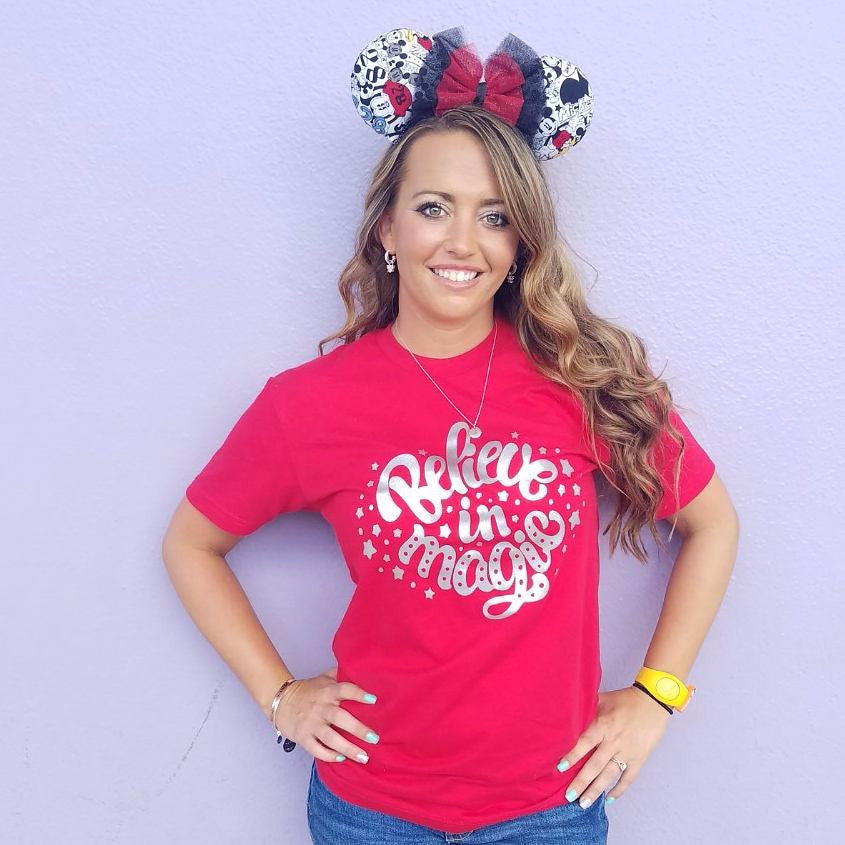 Disney Shirt, Believe in Magic, Disney family shirts, Disney shirts for women, Disney tshirts