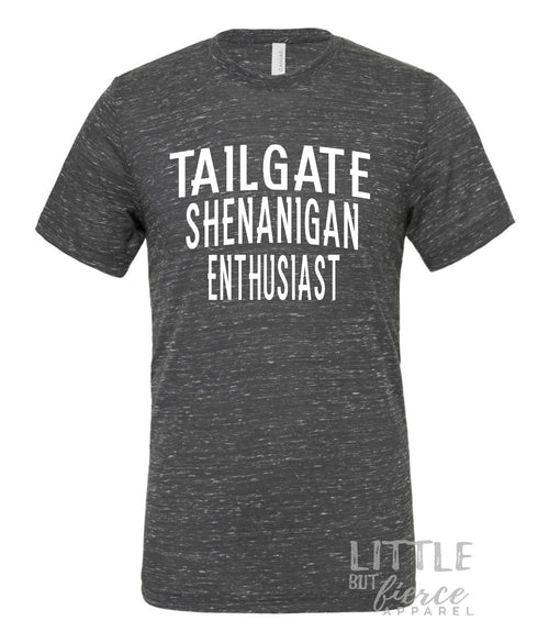 Tailgate Shenanigan Enthusiast Shirt | Marble Crew Neck Tee