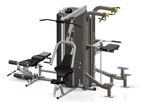 Inflight Fitness Multi-Gym Vanguard 3rd Stack Chin/Dip Assist Option with/without Full Shrouds