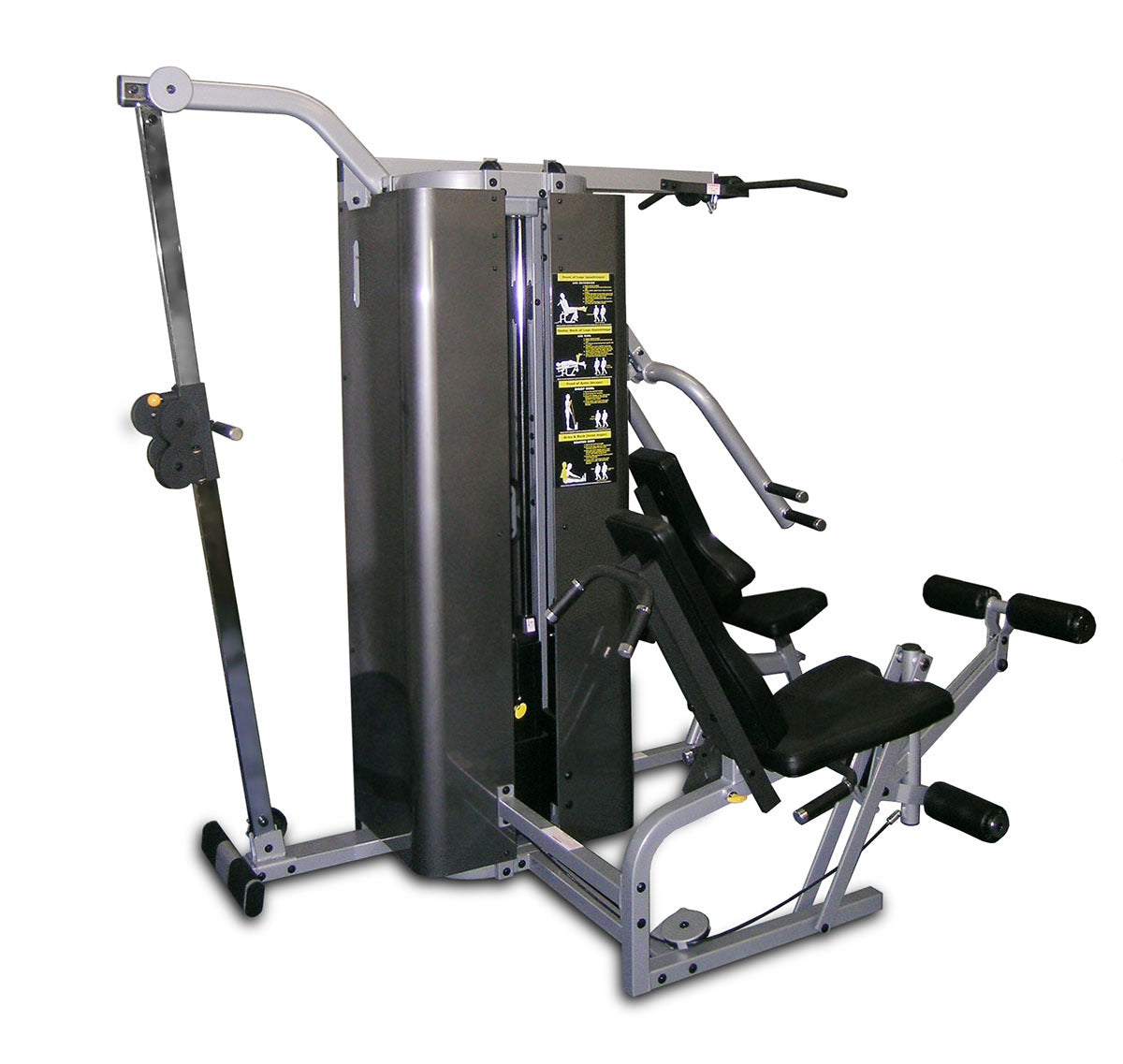 "Inflight Fitness Vanguard 4 Stack w/Cable Crossover 54"" Crossbeam with/Without Shrouds"