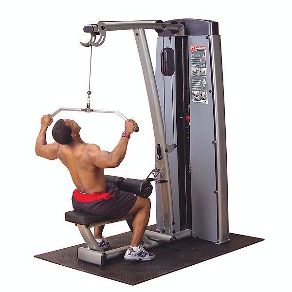 Body-Solid Dual Lat/Row-Machine, Freestanding 210lb Stack