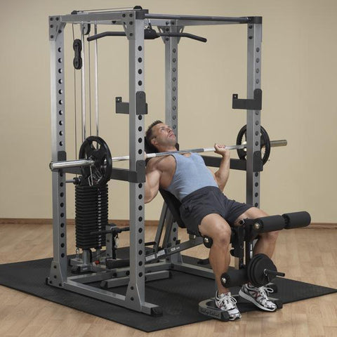 Body Solid Power Rack Package, GPR378, GLA378, SP200, DR378, GFID31, GPCA1, GLDA1
