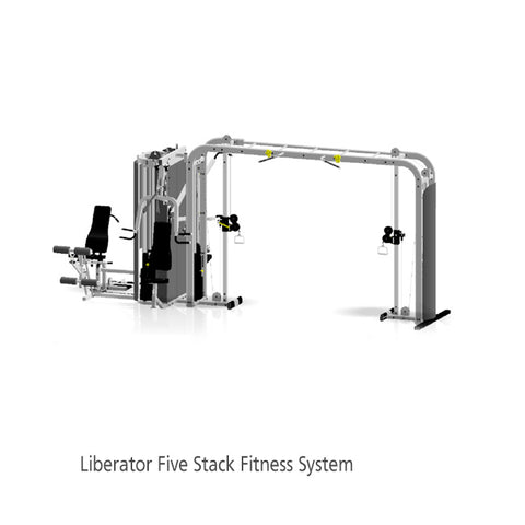"Inflight Fitness Liberator 5 Stack w/ Cable Crossover Standard 54"" Crossbeam with/without Shrouds"