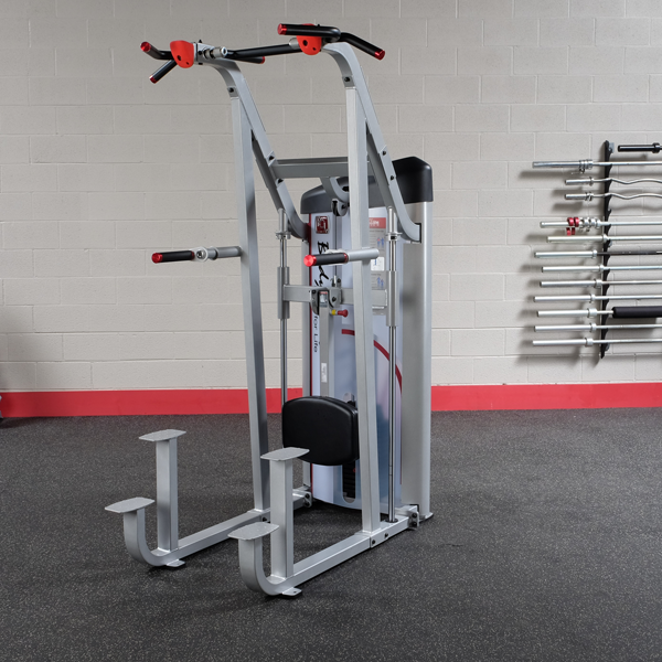 Body-Solid Series II Assisted Chin and Dip Machine, 235LB Stack