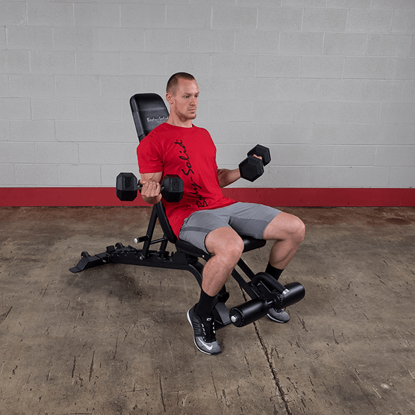 Body-Solid Full Commercial Adjustable -Flat, Incline and Decline Bench