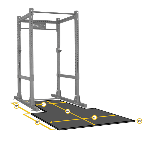 Body-Solid Rubber Platform Mat for SPR1000, Power Rack Floor Mat