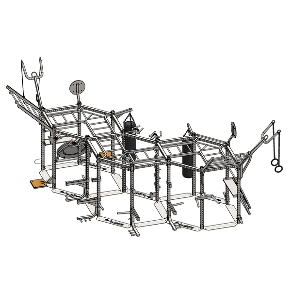Body-Solid Hexagon Triple Package SR-HEXTPLP4