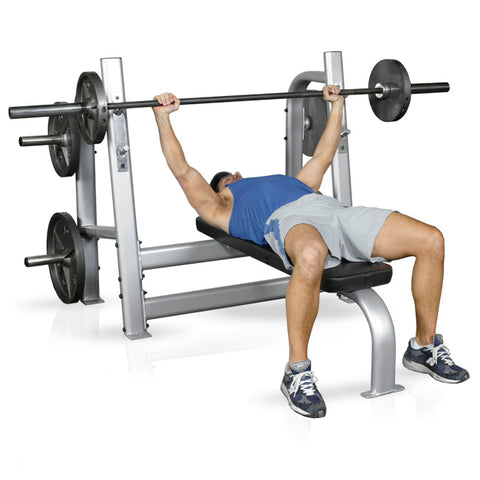 Inflight Fitness FreeWeights PlateLoaded 5000 Olympic Bench with Weight Horns