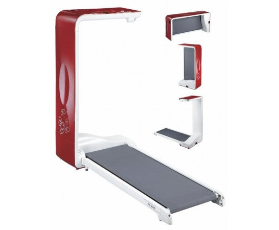 BodyCraft SpaceWalker Compact 4mph Folding Treadmill Red/White