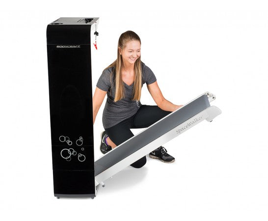 SpaceWalker Compact 4mph Folding Treadmill Black/White