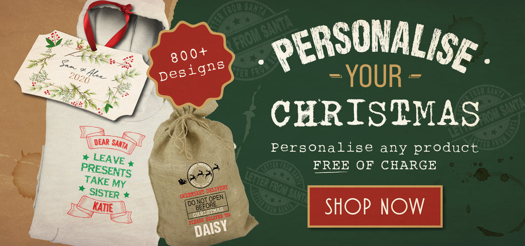 personalised bespoke christmas gifts clothing decorations home accessories