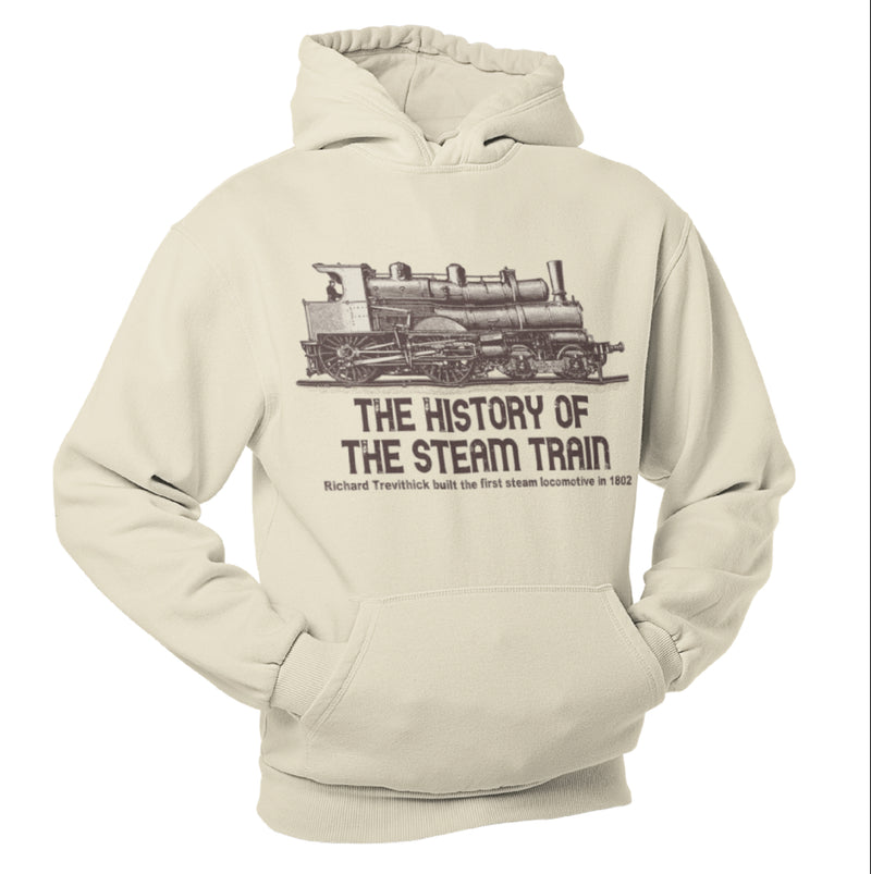 The History of Steam Trains, Train Humour Hoodie