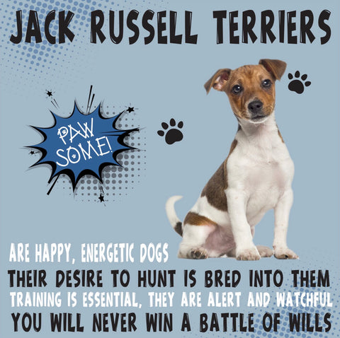 Jack Russell Terrier Dog Trait range of PAWSOME Gifts for all the family