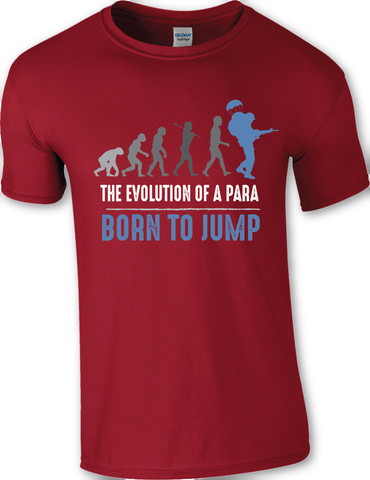 Airborne - The evolution of a PARA - BORN TO JUMP T-SHIRT
