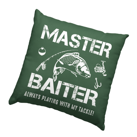 Master Baiter Fishing Humour Soft Touch Cushion