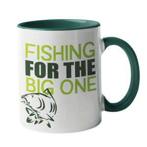 Fishing for the big one, Fishing Humour Mug