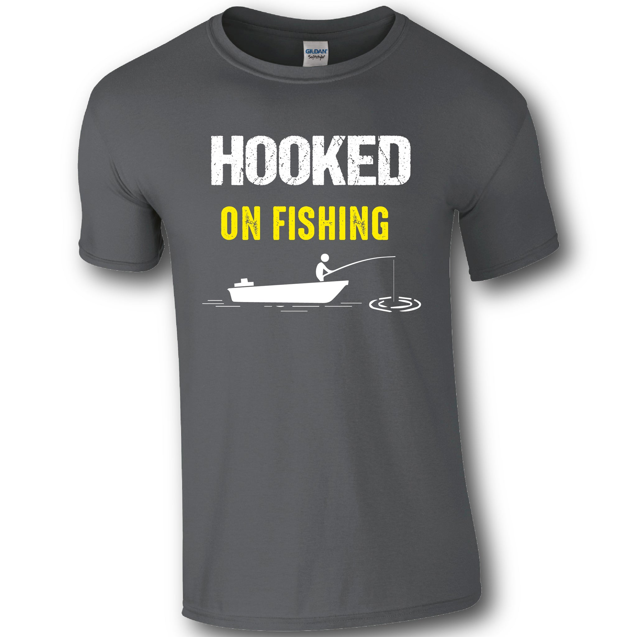 Hooked on Fishing, Fishing Humour T-shirt