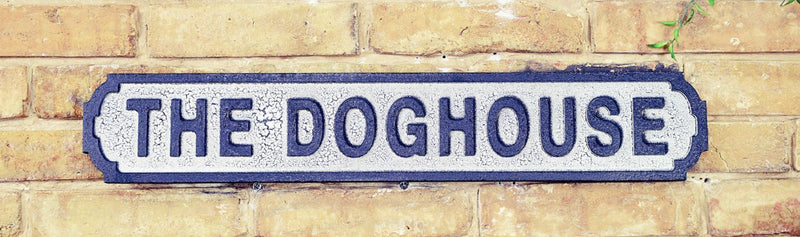 The Doghouse Road Sign