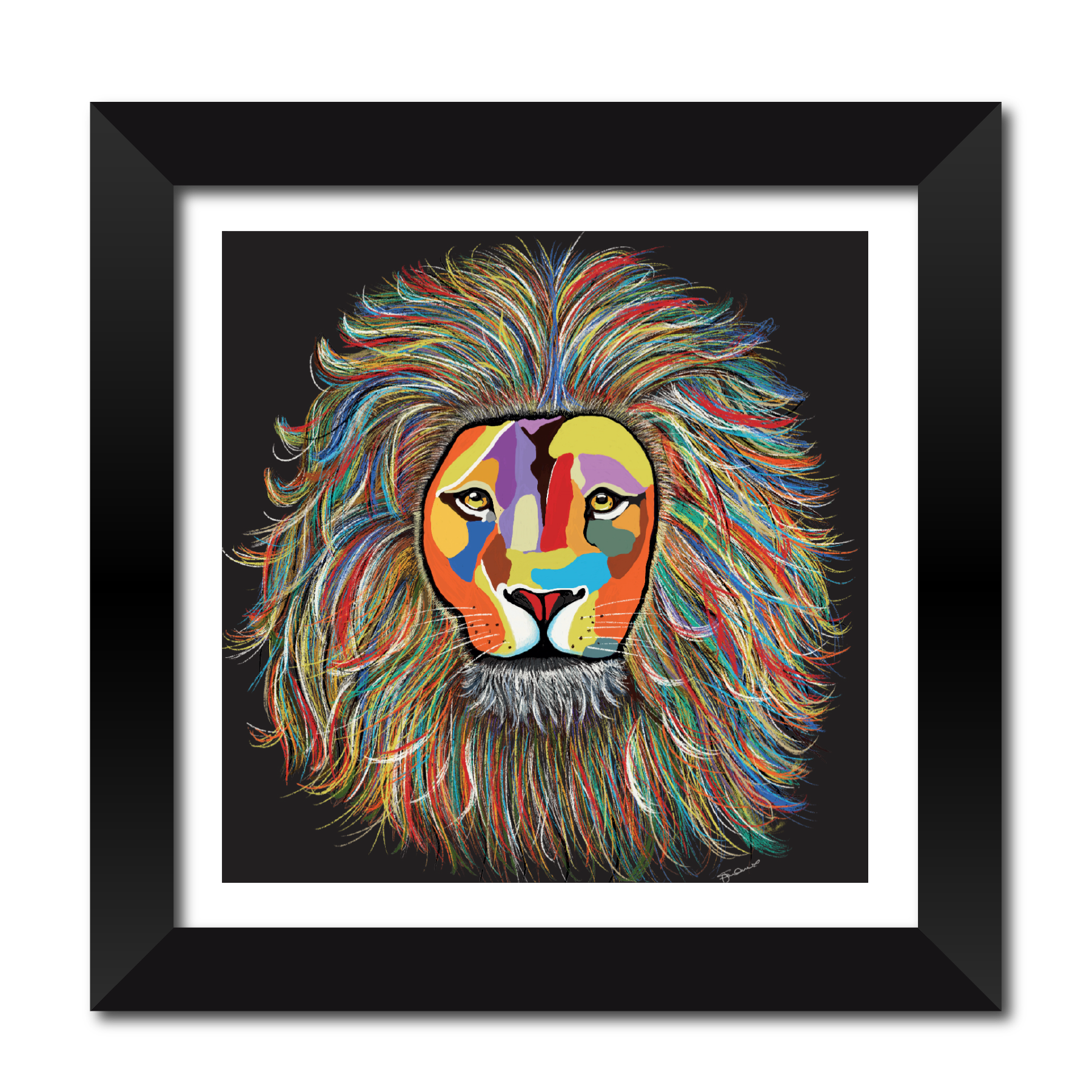 Leo The Lion Framed Print