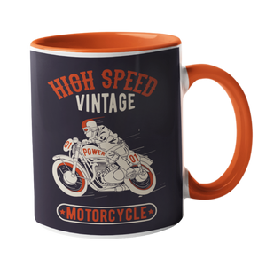 High Speed Vintage Motorbike Mug