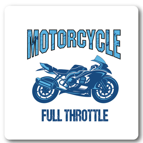 Motorcycle Full Throttle, Motorcycle Metal Wall Sign