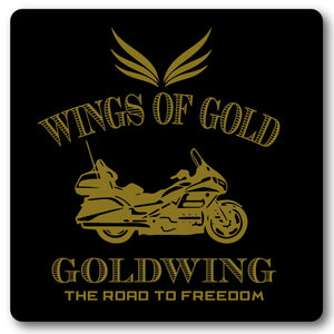 Wings of Gold, Motorcycle Metal Wall Sign