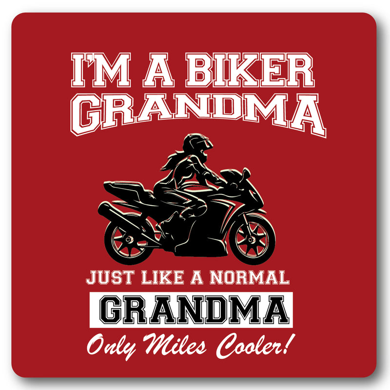I'm a biker Grandma, Motorcycle Metal Wall Sign