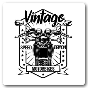 Vintage Speed Demon , Motorcycle Metal Wall Sign